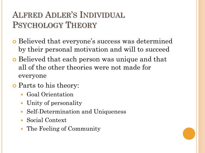 alfred adler theory of motivation