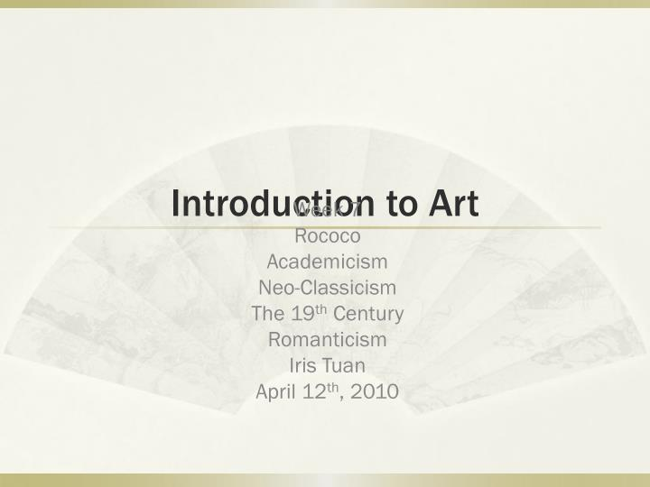 introduction to art n.