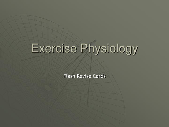 exercise physiology n.