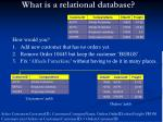 what is a relational database