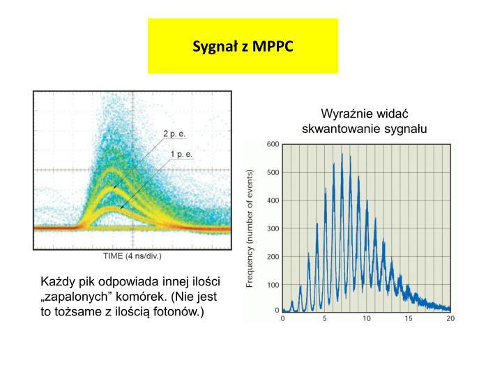 Sygnał z MPPC
