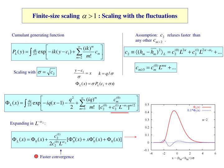 Finite-size scaling            : Scaling with the fluctuations