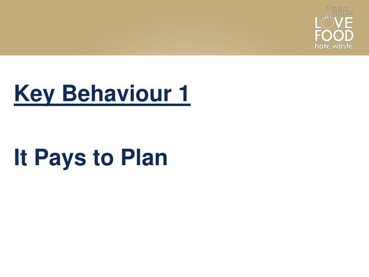 Key Behaviour 1