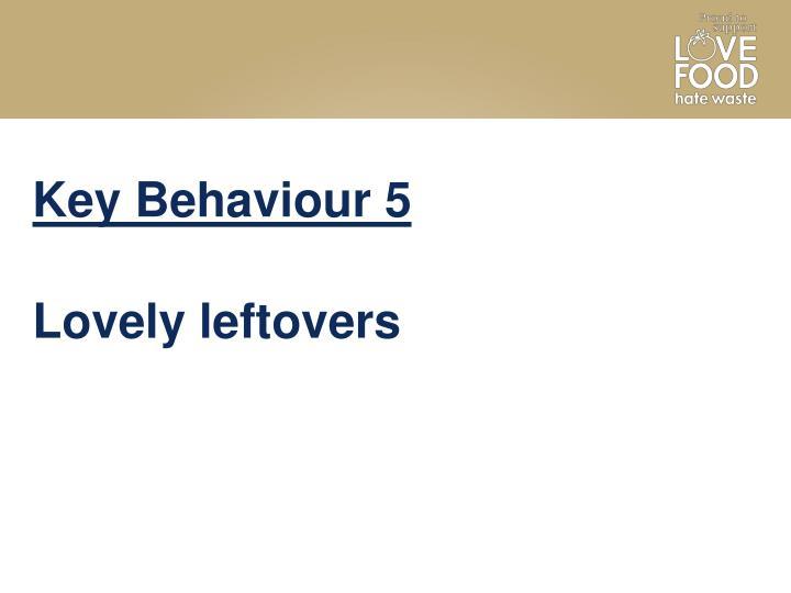 Key Behaviour 5