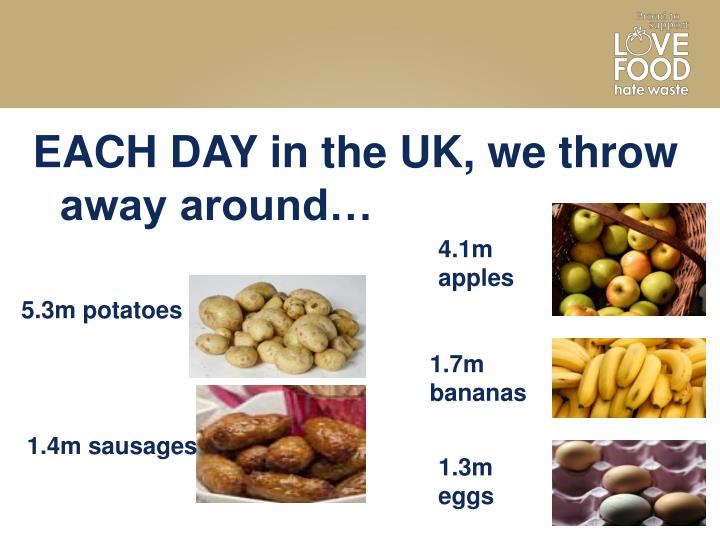 EACH DAY in the UK, we throw away around…