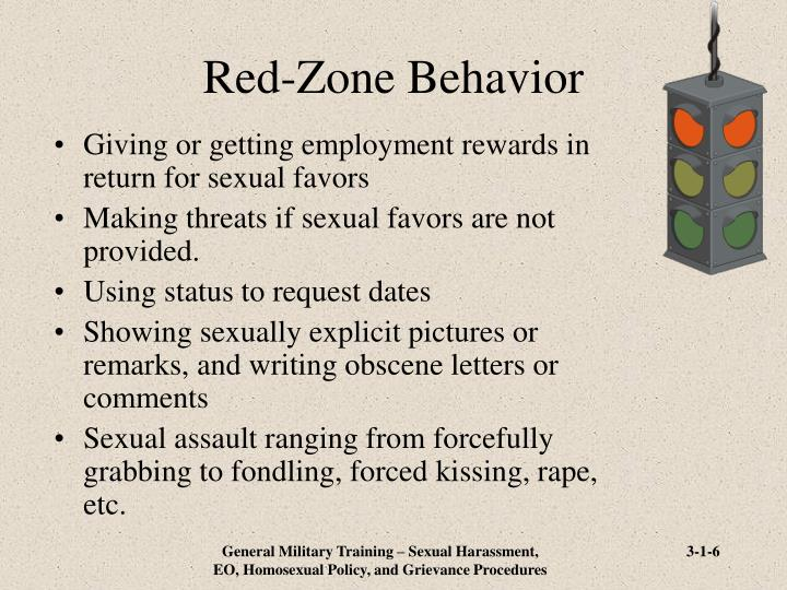 Red-Zone Behavior