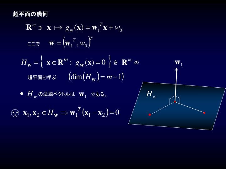 超平面の幾何
