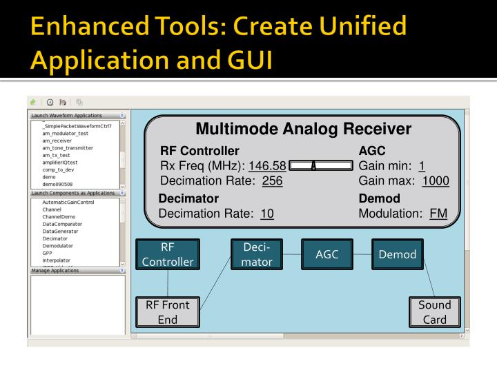 Enhanced Tools: Create Unified Application and GUI