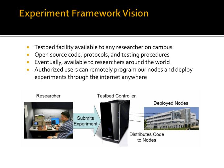 Experiment Framework Vision