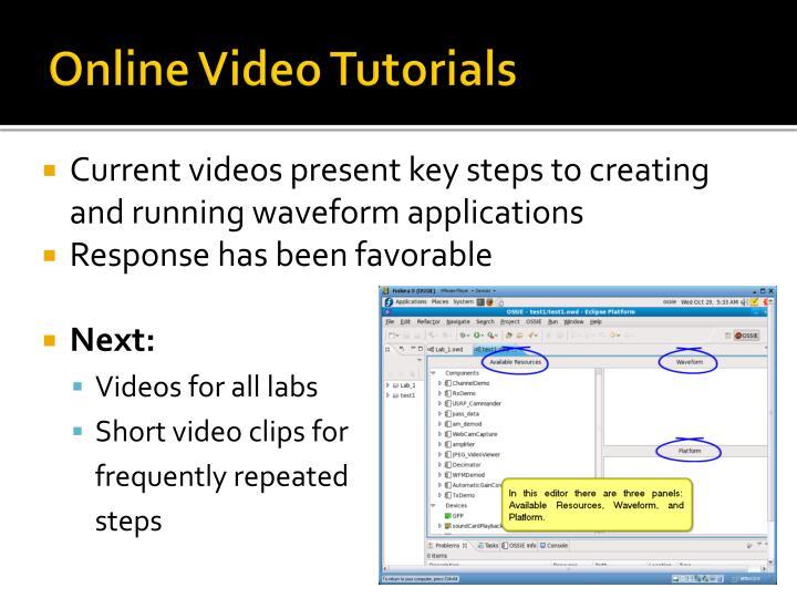 Online Video Tutorials