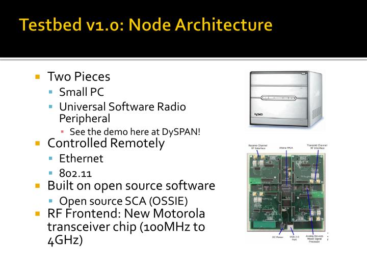 Testbed v1.0: Node Architecture