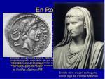 en roma
