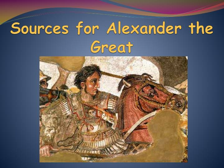 sources for alexander the great n.
