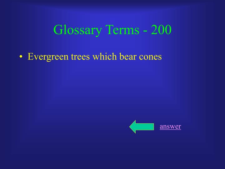 Glossary Terms - 200