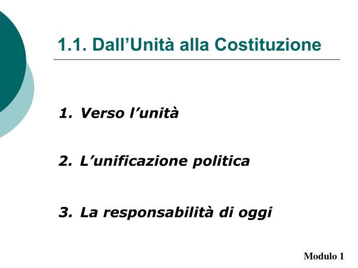 1.1. Dall'Unità alla Costituzione