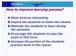 how to improve learning process
