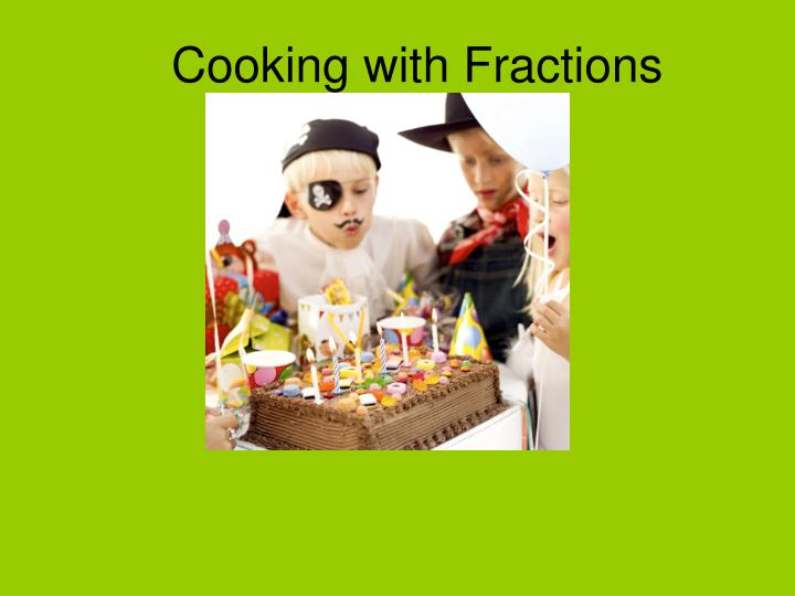 cooking with fractions n.