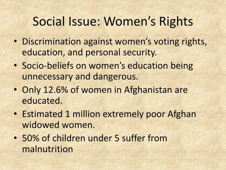 Social issue women s rights