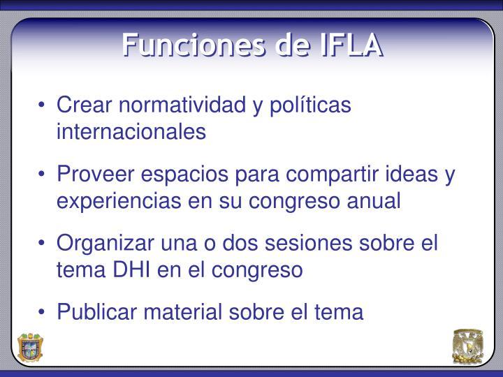 Funciones de ifla