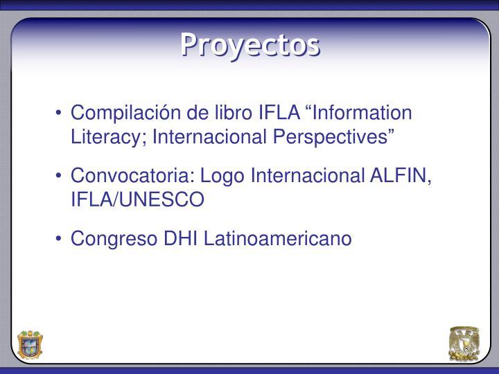"""Compilación de libro IFLA """"Information Literacy; Internacional Perspectives"""""""