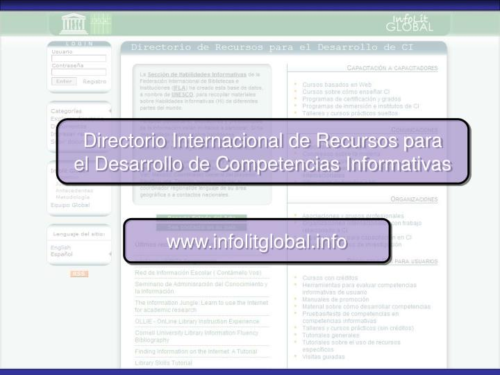 Directorio Internacional de Recursos para