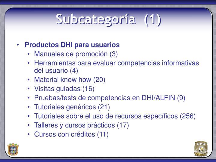 Productos DHI para usuarios