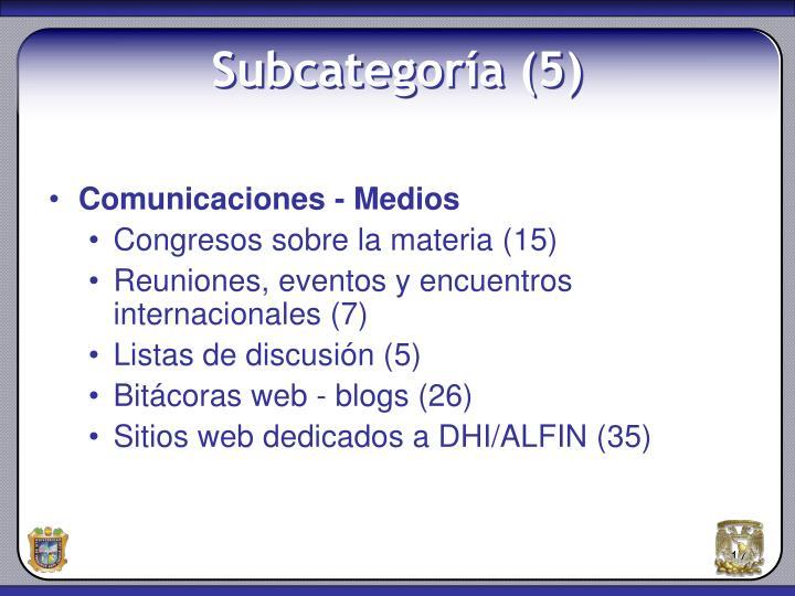 Comunicaciones - Medios
