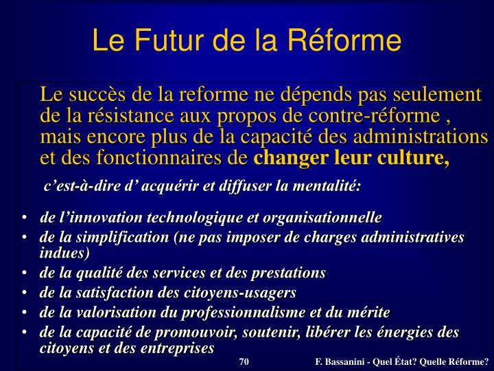 Le Futur de la Réforme