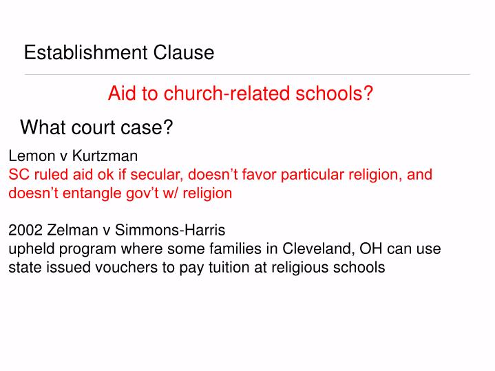 zelman v simmons harris Zelman v simmons-harris by kendall zeidner and libby sondheimer ohio pilot scholarship program provides tuition aid in form of vouchers for certain students in the cleveland school district.