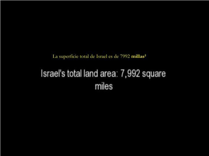 La superficie total de Israel es de 7992