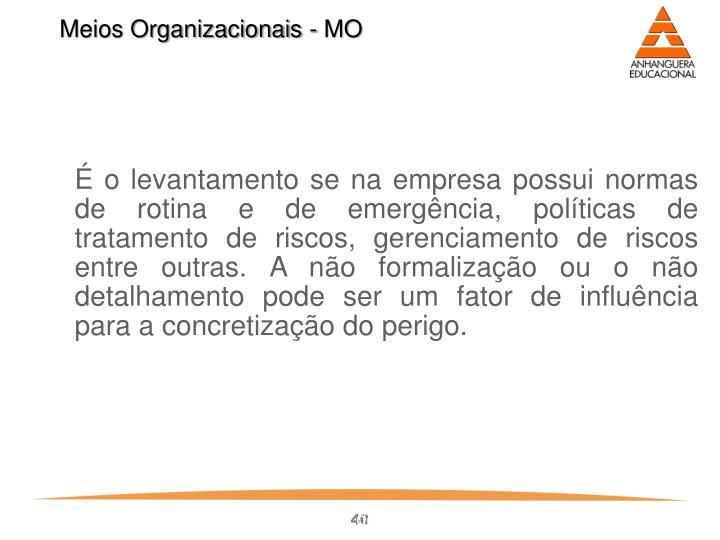 Meios Organizacionais - MO