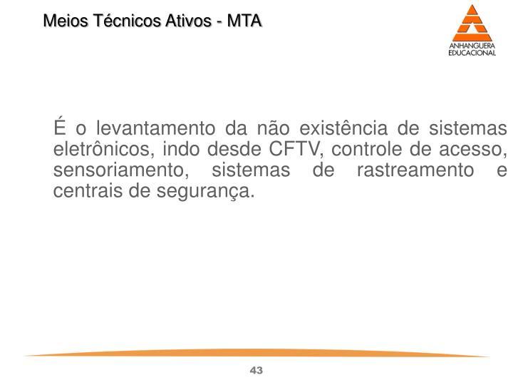 Meios Técnicos Ativos - MTA