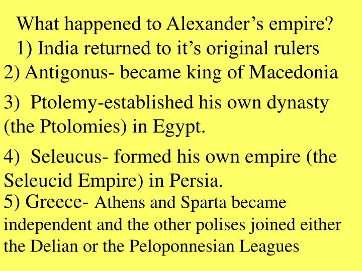 What happened to Alexander's empire?