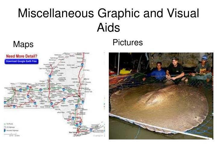 Miscellaneous Graphic and Visual Aids