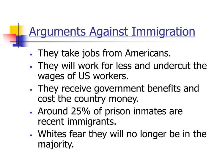 Arguments Against Immigration