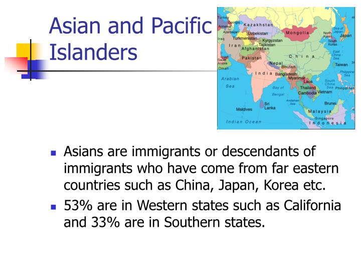 Asian and Pacific
