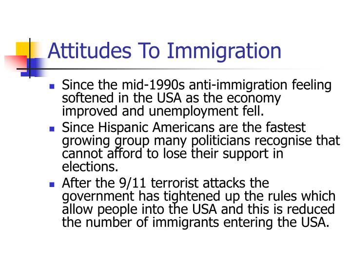 Attitudes To Immigration