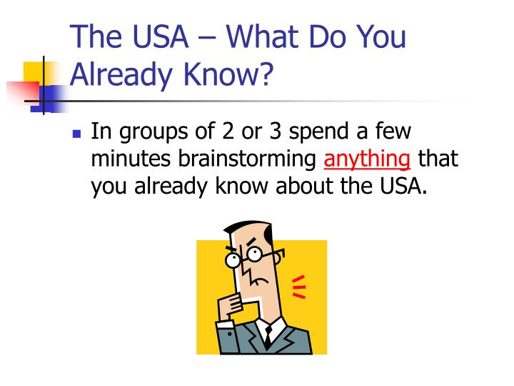 The USA – What Do You Already Know?