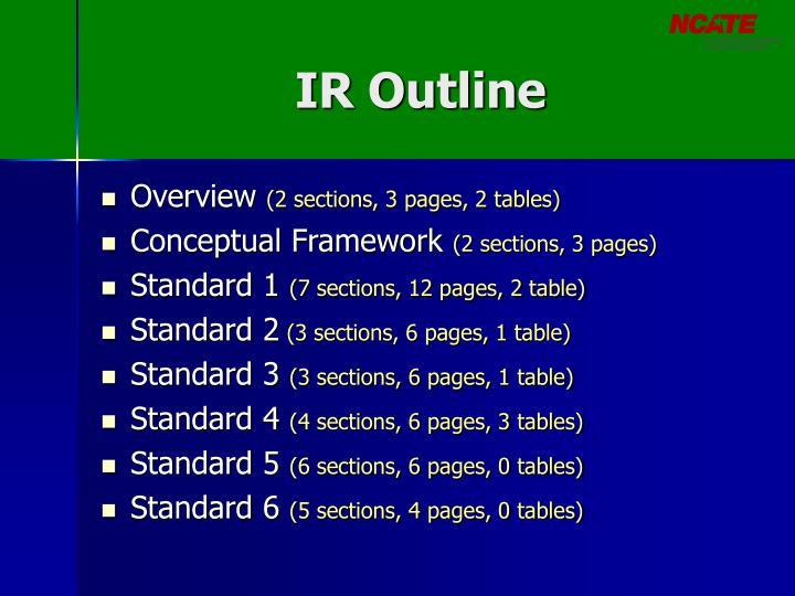 IR Outline