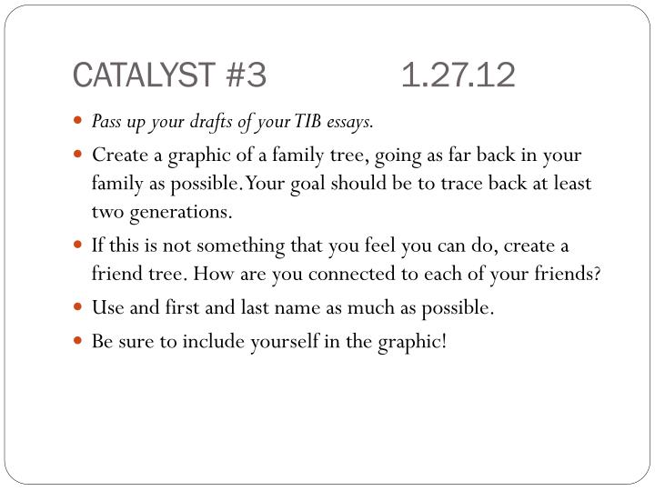 CATALYST #31.27.12