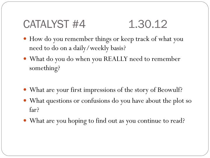 CATALYST #41.30.12