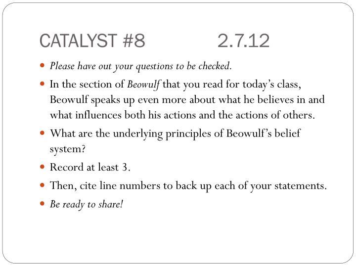 CATALYST #82.7.12