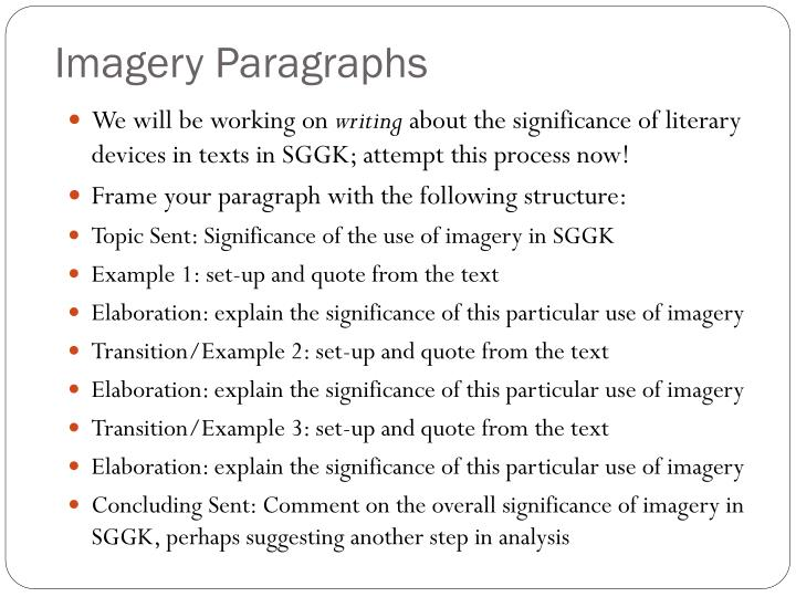 Imagery Paragraphs