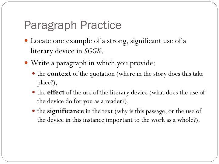 Paragraph Practice