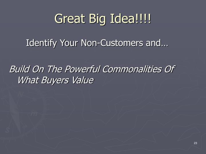 Great Big Idea!!!!