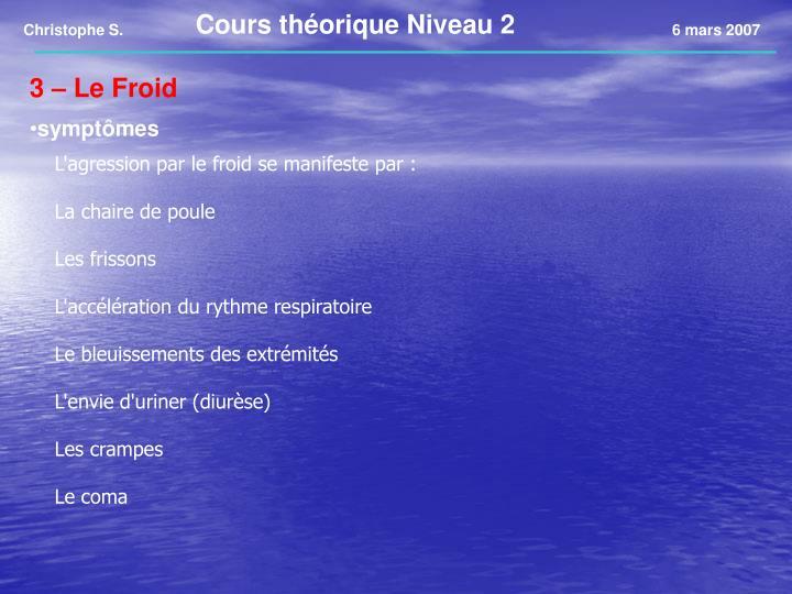 Cours théorique Niveau 2