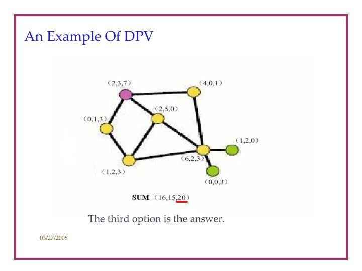 An Example Of DPV