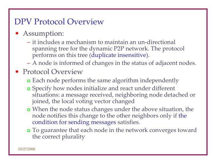 DPV Protocol Overview