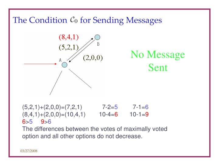 The Condition      for Sending Messages