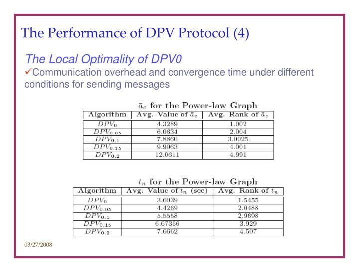 The Performance of DPV Protocol (4)